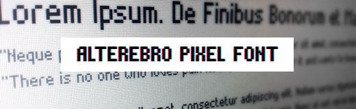 Alter Ebro Pixel Font