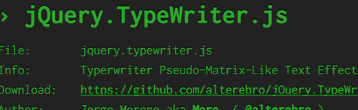 jQuery.TypeWriter.js